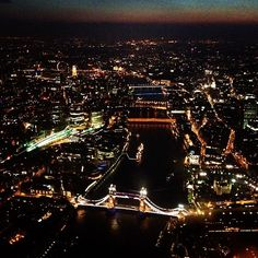 #sunset over #london #nightscene #river #england #britain #night #city