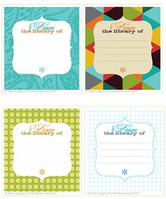 Bookplates #printable