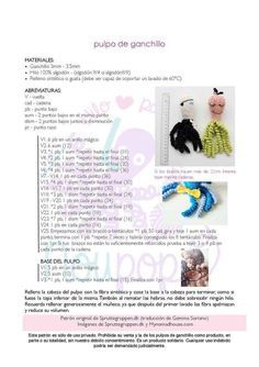 Patrón Pulpo Solidario Crochet - Mercería Peques