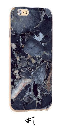 Granite-Marble-Texture-Print-Transparent-Phone-Case-for-iPhone-Range