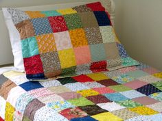 Patchwork quilted pillow shams--King Size--Classic Americana-- all cotton fabric (80.00 USD) by secondsanctuary