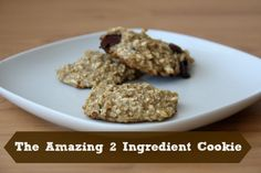 2 ingredient cookies! Making these tonight and adding raisins, coconut and a lil chocolate! Yum!