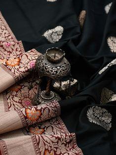 Sacred Weaves - Shop for Exquisite Banarasi Sarees Online Banaras Sarees, Tussar Silk Saree, Saree Dress, Sari Blouse, Saree Designs Party Wear, Katan Saree, Weave Shop, Bengali Bridal Makeup, Silk Sarees Online Shopping