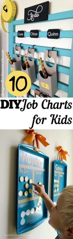 Job Charts, Job Charts for Kids, Kid Job Charts, Chore Charts, DIY Chore Charts, Easy DIY Chore Charts, Printable Chore Charts, Popular Pin, Homemade Chore Charts