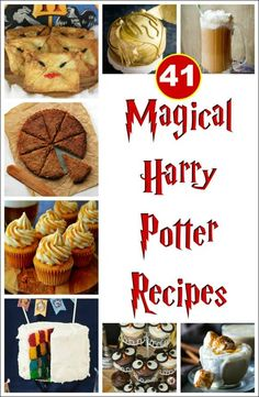 41 Magical Harry Potter Recipes Harry Potter Food - Having a Harry Potter birthday? You'll need Harry Potter recipes too! These delicious treats from Harry Potter cakes to butterbeer will make it an awesome Harry Potter party! Harry Potter Snacks, Baby Harry Potter, Harry Potter Motto Party, Harry Potter Torte, Harry Potter Fiesta, Harry Potter Halloween Party, Theme Harry Potter, Harry Potter Treats Sweets, Harry Potter Recipes