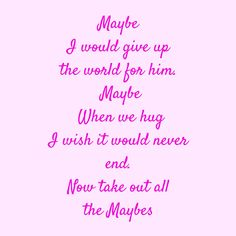 Maybe I would give up the world for him. Maybe When we hug I wish it would never end. Now take out all the Maybes #‎QuotesYouLove‬ ‪#‎QuoteOfTheDay‬ ‪#‎FeelingLoved‬ ‪#‎Love‬ ‪#‎QuotesOnFeelingLoved‬ ‪#‎QuotesOnLove‬ ‪#‎FeelingLovedQuotes‬ ‪#‎LoveQuotes ‬  Visit our website  for text status wallpapers  www.quotesulove.com