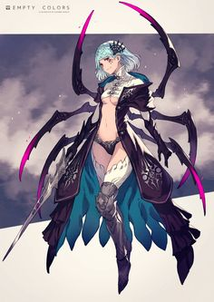 Original ArtWork of kusano shinta Female Character Design, Character Design Inspiration, Character Concept, Character Art, Anime Fantasy, Dark Fantasy Art, Fantasy Girl, Fantasy Makeup, Fantasy Characters