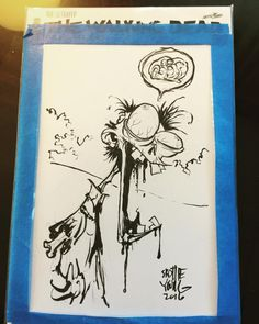 Walking Dead Adventures #eccc #walkingdead #zombie #comicbooks #sketch City Drawing, Graffiti Drawing, Skottie Young, Cartoon Sketches, Cartoon Art, Walking Dead, Zombie Drawings, Shetland, 3d Paper Art