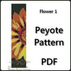 Flower 1 Peyote Pattern Beading  Tutorial PDF  by BeadingPattern, $5.00