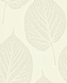 Leaf (110375) - Harlequin Wallpapers - A beautiful large scale leaf motif with intricate detailing and stunning glass beads within the leaves. Shown here in cream. More colours are available. Please request a sample for true colour match. Paste-the-wall product.