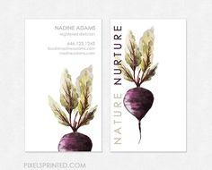 nutritionist  business cards - thick, glossy or matte - color both sides - FREE UPS ground shipping
