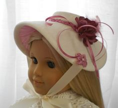 American Girl Doll Clothes  Doll Hat 1800's  by capecodcuriosities