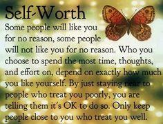 Self worth......
