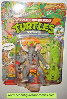 teenage mutant ninja turtles DOCTOR EL elephant dr 1992 vintage playmates toys mib moc mip tmnt