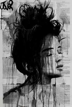 "Saatchi Art Artist Loui Jover; Drawing, ""birches and twigs"" #art"