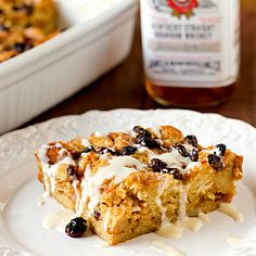 New Orleans Bourbon Bread Pudding with Bourbon Sauce   Brown Eyed Baker