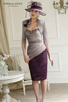 Ruched Lavender Purple Mother Of The Bride Dress By Veni Infantino