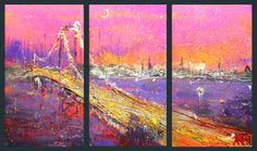 "Saatchi Art Artist Anastasia Kachina; Painting, ""New York,"" #art"