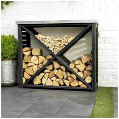 Outdoor Firewood Rack, Firewood Shed, Outdoor Storage, Indoor Firewood Storage, Firewood Holder, Patio Storage, Outdoor Projects, Garden Projects, Backyard Patio