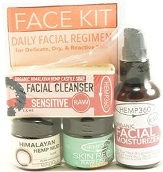Organic Raw Face Kit  Daily Facial Regime  Sensitive  for Delicate Dry  Reactive Skin *** Want to know more, click on the image.