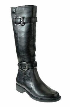 David Tate Women's Brandi Extra Wide Calf Boot (Black) - Extra Wide Calf Boots