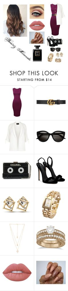 """""""Velvet"""" by perfeicaosqn on Polyvore featuring Gucci, River Island, Giuseppe Zanotti, Natalie B, Allurez, Lime Crime and Chanel"""