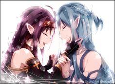 Yuuki-chan and Asuna-chan... so sweet...