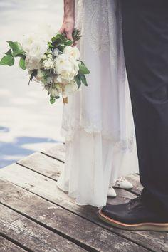 Romantic Wedding Portraits by the Lake | Bonnallie Brodeur Photography | See More! http://heyweddinglady.com/handmade-bohemian-woodland-wedding-from-bonnallie-brodeur-photography/