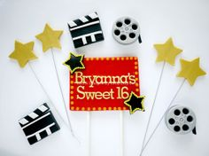 Movie Themed Cake Topper  Edible fondant by EdibleDesignsByLetty, $29.50