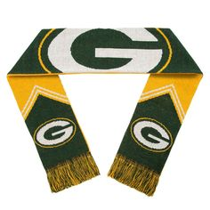 Green Bay Packers Scarf - Reversible Stripe - 2016