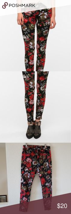 Bdg floral skinny jeans Mid-rise twig BDG Jeans Skinny