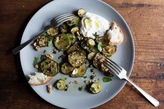 Sautéed Zucchini with Basil, Mint, and Capers on Food52