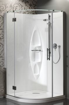 Athena Allora Round Moulded Wall Shower - Available at Pecks Plumbing Plus!