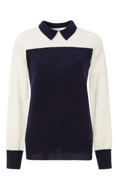 Shop Sidney Cashmere Color-Block Sweater by Demy Lee Now Available on Moda Operandi $290.00