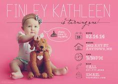 invitación de cumpleaños de bebé/niño por poppydesignsboutique