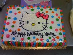 Coolest Hello Kitty Birthday Cake... This website is the Pinterest of birthday cake ideas