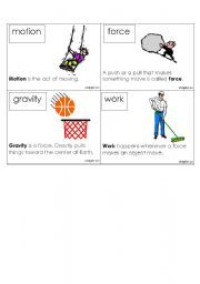 forces printable | English worksheets: Forces, Motion, Sound