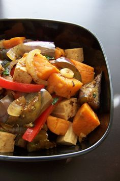 Eggplant, Pumpkin & Tofu in Garlic Sauce - Recipes, Dinner Ideas, Healthy Recipes & Food Guides
