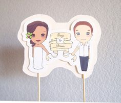Custom Cake Topper - made to look like the happy couple