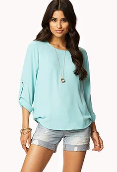 Essential Georgette Top   FOREVER21 - 2060070111