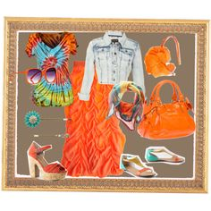 Orange the new Pink, created by tonya-guimond on Polyvore