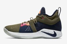 official photos c838e 2fec1 The Nike PG 2 ACG (Style Code  colorway comes dressed in Olive Canvas,  Obsidian and Light Silver highlighted with Magenta and Orange accents.