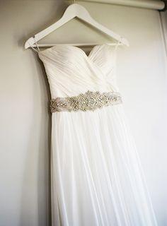 Wedding Gown by Lisa Gowling | See the wedding on SMP: http://www.StyleMePretty.com/australia-weddings/victoria-au/2014/01/28/morning-star-estate-wedding/ Stewart Leishman Photography