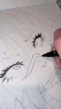Body Drawing Tutorial, Manga Drawing Tutorials, Art Tutorials, Hand Drawings, Art Drawings Sketches Simple, Pencil Art Drawings, Pretty Art, Cute Art, Arte Copic
