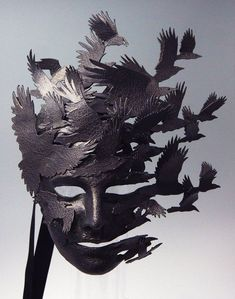 Corvus Flight - Female - by theartofthemask Memento Mori, Cool Masks, Masks Art, Larp, Mask Design, Mask Making, Masquerade, One Pic, Art Inspo