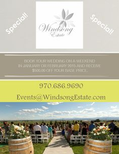 SPECIAL- Windsong Estate Event Center, Fort Collins, CO