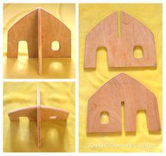 Portable Waldorf Dollhouse - Small - Imaginative Play Dollhouse according to Waldorf Education. €45.00, via Etsy.