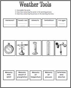 Worksheets Weather Instruments Weather Worksheets Pdf Recipes