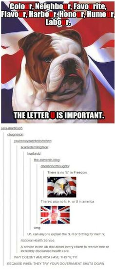 Lol love it. Canadian and British spelling. Some people still can't figure it out...
