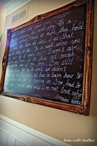 Blissfully Ever After: 7 Trash to Treasure Ideas  DIY Chalkboard Framed Art